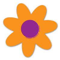 Orange and Purple Flower Magnet