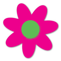 Pink and Green Flower Magnet