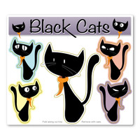 Black Cats Magnet Pack