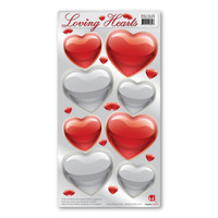 Spread the love with this hearts magnet pack. Great for decorating any vehicle for Valentine's Day or to decorate the bride and groom's getaway car at weddings!
