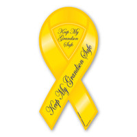 Keep My Grandson Safe 2-in-1 Ribbon  Magnet