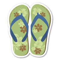 Green and Blue Flip Flop Magnet