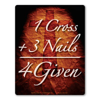1 Cross + 3 Nails = 4Given  Magnet