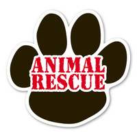 Animal Rescue Paw Magnet