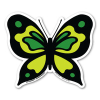 Green Butterfly Magnet