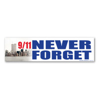 9/11 Never Forget Bumper Strip Magnet