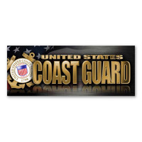 The United States Coast Guard was founded in 1790 and serves as both a branch of the military as well as law enforcement. During times of peace, the Coast Guard operates lighthouses and works with the Department of Homeland Security to protect our borders. During times of war, the Coast Guard works with the Navy and its resources are used in military operations. This Bumper Strip Magnet is a great way for current and former members of the Coast Guard to show pride in their branch, as well as for others to show their support for the men and women who serve our country.