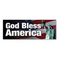 God Bless America Bumper Strip Magnet