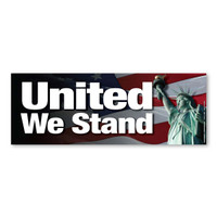 United We Stand Bumper Strip Magnet