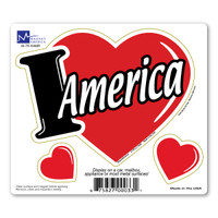 I Love America 3-in-1 Car Magnet