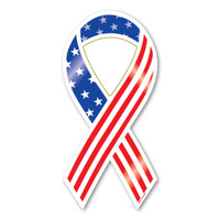 Stars and Stripes Ribbon Magnet