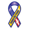 "The phrase ""Support Our Troops"" first began gaining popularity during the Gulf War when it was used, along with the yellow ribbon symbol, as an expression of the desire to bring our troops home safe. It has continued to grow in popularity since 2003 with Magnet America's ""Support Our Troops"" Yellow Ribbon Magnet, which was introduced in honor of those serving in Iraq. This Large Ribbon Magnet displays the colors of the American Flag as well as the yellow color traditionally used to show support for the troops. This item is another great way to show your support for the men and women serving in our country's military."