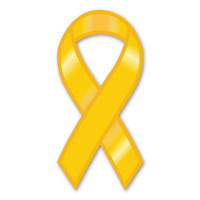 "While the history of the Yellow Ribbon as a sign of military support begins with the poem ""She Wore a Yellow Ribbon,"" it began gaining popularity in the United states in 1979 with the Iran Hostage Crisis. It's popularity returned during the Gulf War along with the phrase ""Support Our Troops,"" and has continued gaining popularity since 2003, when Magnet America introduced the ""Support Our Troops"" Ribbon Magnet in honor of those serving in Iraq. This Yellow Ribbon Magnet is another great way to show your support for the men and women serving in our country's military."