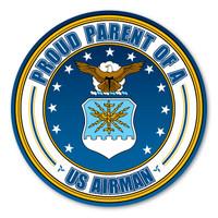 Proud Parent of a US Airman Circle  Magnet