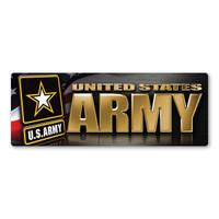 Army Chrome Bumper Magnet