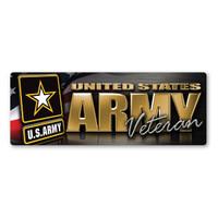 Army Veteran Bumper Strip Magnet