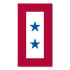 This design was originated by the Department of Defense for display of family members serving and popularized by the Blue Star Mothers of America.