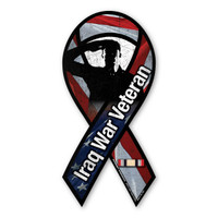 Iraq War Veteran Salute Ribbon  Magnet