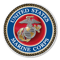 """In 1775, the Marine Corps was formed as the Continental Marines. They were specifically established to serve as an infantry branch that was able to engage in combat both on land and at sea during the American Revolutionary War. Today, members of the Marine Corps work closely with the Navy as well as the Army and the Air Force, gaining nicknames such as """"America's third Air Force"""" and """"America's second land Army."""" This Mini Circle Magnet can be used by former and current Marines to show pride in their branch. It can also be used by others to show support for the USMC."""