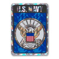The U. S. Navy was founded in 1775 as the Continental Navy during the Revolutionary War. Today, the men and women of the Navy continue to serve our country and protect our freedom. This Holographic Rectangle Decal is a great way for current Navy members and those who have served in the past to show pride for their branch. It is also a great way for others to show their support.