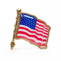 The United States Flag was first created in 1777, bearing 13 stars to represent the 13 colonies. The number of stars in the flag has changed many times as states were added between 1777 and 1960, when the flag came to be as it is today. This American Flag Lapel Pin is a great way to show that you are proud to be an American!