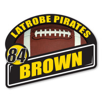 Get your team members their own personalized custom sports magnet with their name and number! Personalized sports magnets require a minimum order quantity of 8.