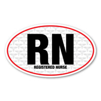 The nursing profession was brought to the forefront during the Civil War. It has grown steadily and is one of the most sought after healthcare professions. Nurses are dedicated and committed to their patients to provide optimal health and maintain their quality of life. Our RN oval decal is perfect for registered nurses.