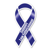Show the men and women who risk their lives everyday to keep us safe by supporting them with our Law Enforcement blue ribbon. Blue lives matter!