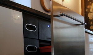 K400 shown with matching K400 stainless steel door