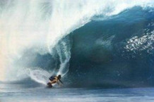Wave Rider Surfing Photo Art Print Poster 24x36