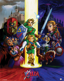 The Legend of Zelda The Ocarina of Time Video Gaming Poster 16x20