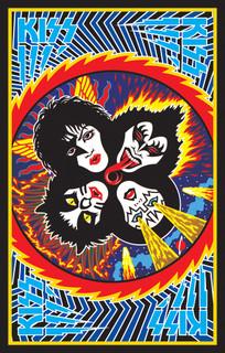 KISS Band Logo Music Blacklight Poster 24x36