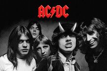 AC/DC Highway to Hell B&W Music Poster 36x24