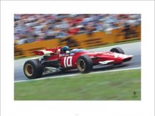 Ferrari F1 Vintage Ickx Race Poster - 31.5x23.5