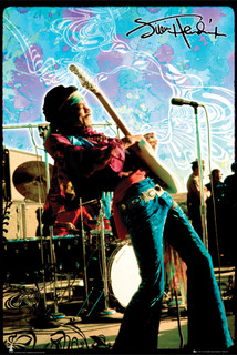 Jimi Hendrix Live Music Poster 24x36