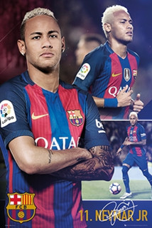 FC Barcelona Neymar Jr Collage Soccer Sports Poster 24x36