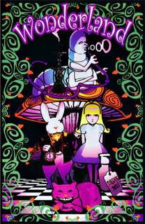 Wonderland Retro Trippy Blacklight Poster 23x35