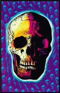 Skull Trip Retro Art Blacklight Poster 23x35