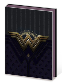 Wonder Woman Metal Insignia Comic Book Journal Notebook 6x8