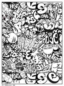 Graffiti Art Print Coloring Poster