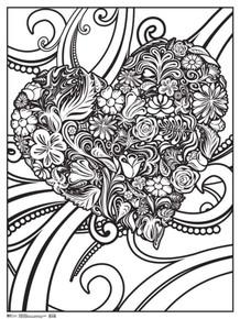 Heart Art Print Coloring Poster