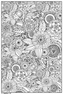 Ultimate Doodle Flowers Art Print Coloring Poster