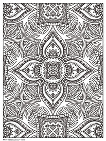 Henna Art Print Coloring Poster