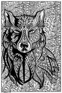 Ultimate Zen Wolf Art Print Coloring Poster