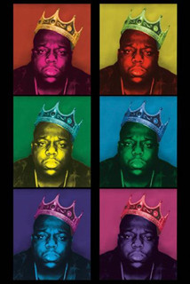 Notorious BIG King Pop Art Blacklight Poster 24x36