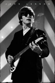 John Lennon Guitar Poster - 24x36