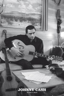Johnny Cash The Man In Black Music Poster 24x36