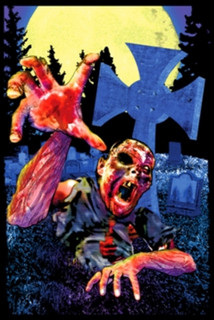 Zombie Graveyard Blacklight Poster 24x36