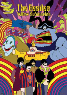 Beatles Yellow Submarine Lenticular 3-D Poster - 18.5x26.5
