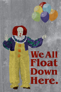 We All Float Down Here Minimalist Movie Poster 24x36